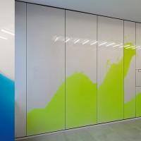Von Künstlern gestaltete Foyers im Dominium – Zentrale der Generali-Versicherung in Köln