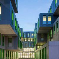 Innenhof des neuen Studierenden Service Centers der Uni Köln (Schuster Architekten Düsseldorf)